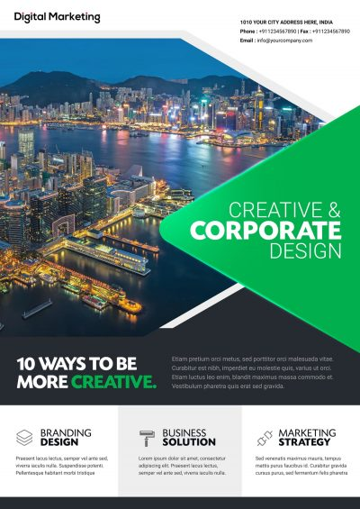 Creative Business Free PSD Flyer Template