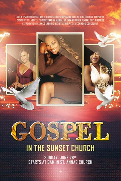 Gospel Choir Free PSD Flyer Template