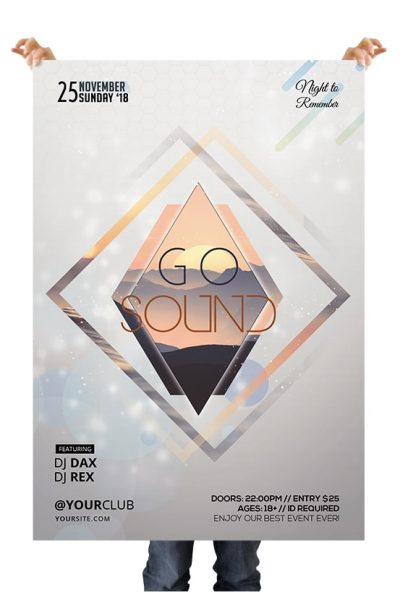 Go Sound Free PSD Flyer Template