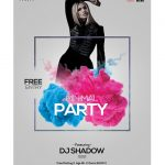 Minimal Party #2 - Free PSD Flyer Template