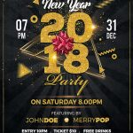 New Year 2018 Party Free PSD Flyer Template