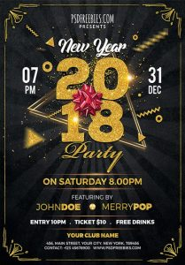 New Year 2019 – Free PSD Flyer Template