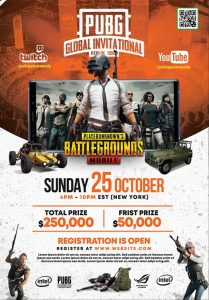 PUBG Gaming Event – Free PSD Flyer Template