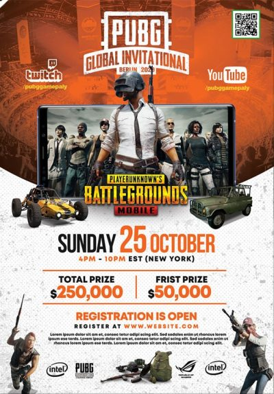 PUBG Gaming Event Free PSD Flyer Template
