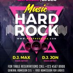 Rock Music Concert Free PSD Flyer Template