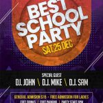 School Party – Free PSD Flyer Template