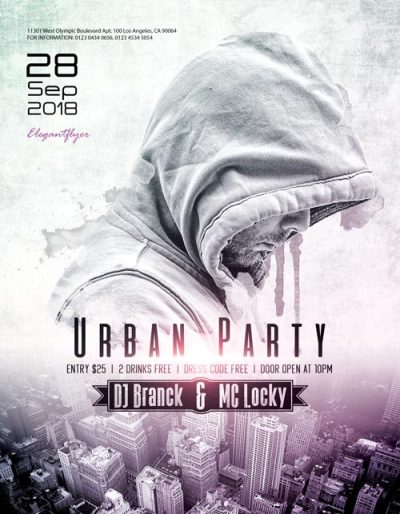 Urban DJ Party Free PSD Flyer Template