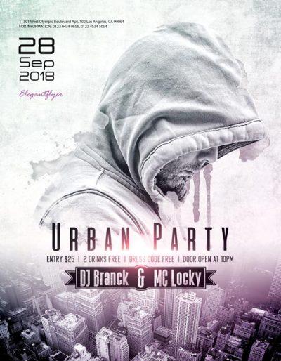 Urban DJ Party Free PSD Flyer Template