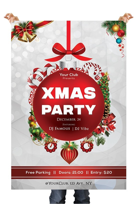 2019 Xmas Night Free PSD Flyer Template