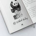 A5 Hardcover Notebook – Free PSD Mockup