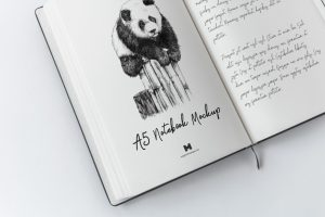 A5 Hardcover Notebook Free Mockup
