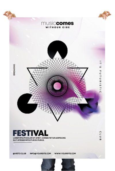 Geometric Party Free Alternative PSD Flyer Template