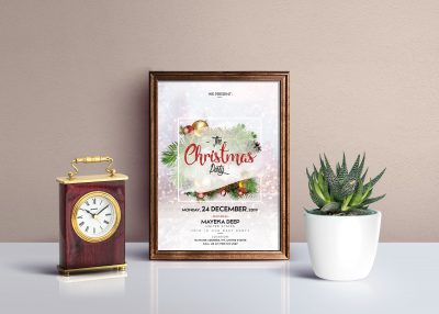 Merry Christmas 2019 Free PSD Flyer Template