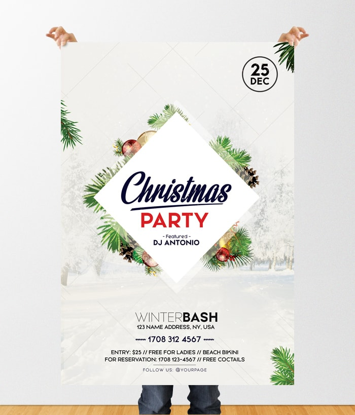 Christmas Party 2019 Free PSD Flyer Template