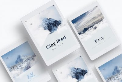 iPad 9.7 Mockup Free PSD Mockup Template