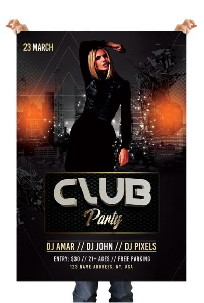 Club Party #2 Free Club PSD Flyer Template