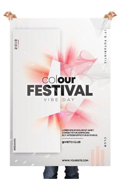 Color Festival Free Alternative PSD Flyer Template