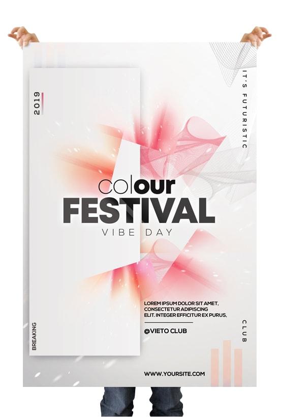 Color Festival – Free Alternative PSD Flyer Template