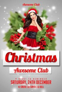 Amazing Christmas – Free PSD Flyer Template
