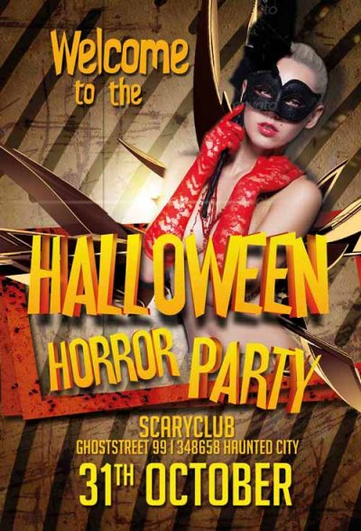 Halloween Horror Party Free PSD Flyer Template