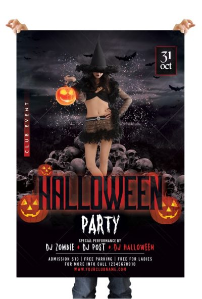 Halloween Party #6 Free PSD Flyer Template