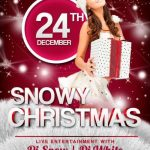 Snowy Christmas – Free PSD Flyer Template
