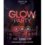 Glow Party #2 Free PSD Flyer Template