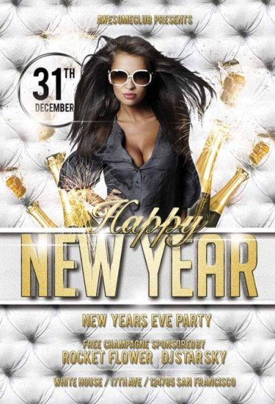 Happy New Year #2 Free PSD Flyer Template