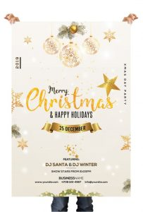 Christmas & Holiday – Free PSD Flyer Template