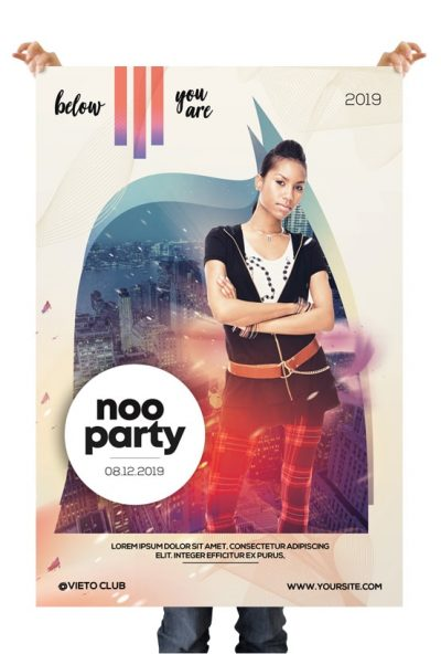 Noo Party Free Alternative PSD Flyer Template