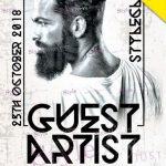 Guest Artist - Free PSD Flyer Template
