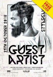 Guest Artist – Free PSD Flyer Template