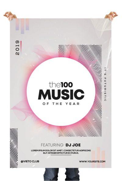 the100 Music Free Alternative PSD Flyer Template
