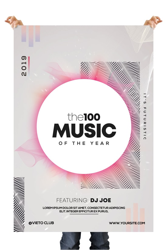 the100 Music Free Alternative PSD Flyer Template
