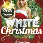 White Christmas Free PSD Flyer Template
