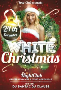 White Christmas – Free PSD Flyer Template