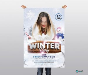 Winter Party #2 – Free PSD Flyer Template