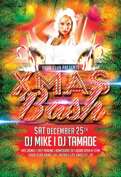 Xmas Bash 2019 Free PSD Flyer Template