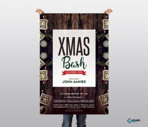 X-Mas Bash – Free PSD Flyer Template