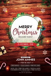 Merry Christmas 2018 – Free PSD Flyer Template