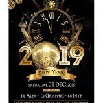 2019 NYE Night Free PSD Flyer Template