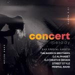 Concert Melody Free PSD Flyer Template