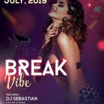Break Vibe - Free PSD Flyer Template