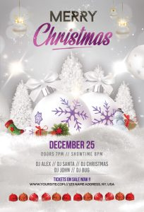 Merry Christmas & Holiday Free PSD Flyer Template