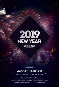 Happy New Year 2019 #2 – Free PSD Flyer Template