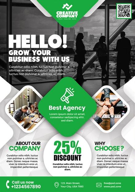 Creative Agency AD Free PSD Template