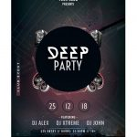 Deep Party Free PSD Flyer Template
