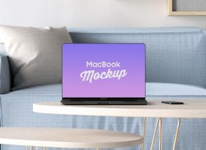 Bezel-Less MacBook Pro 2019 – Free PSD Mockup