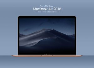 MacBook Air 2018 – Free PSD Mockup