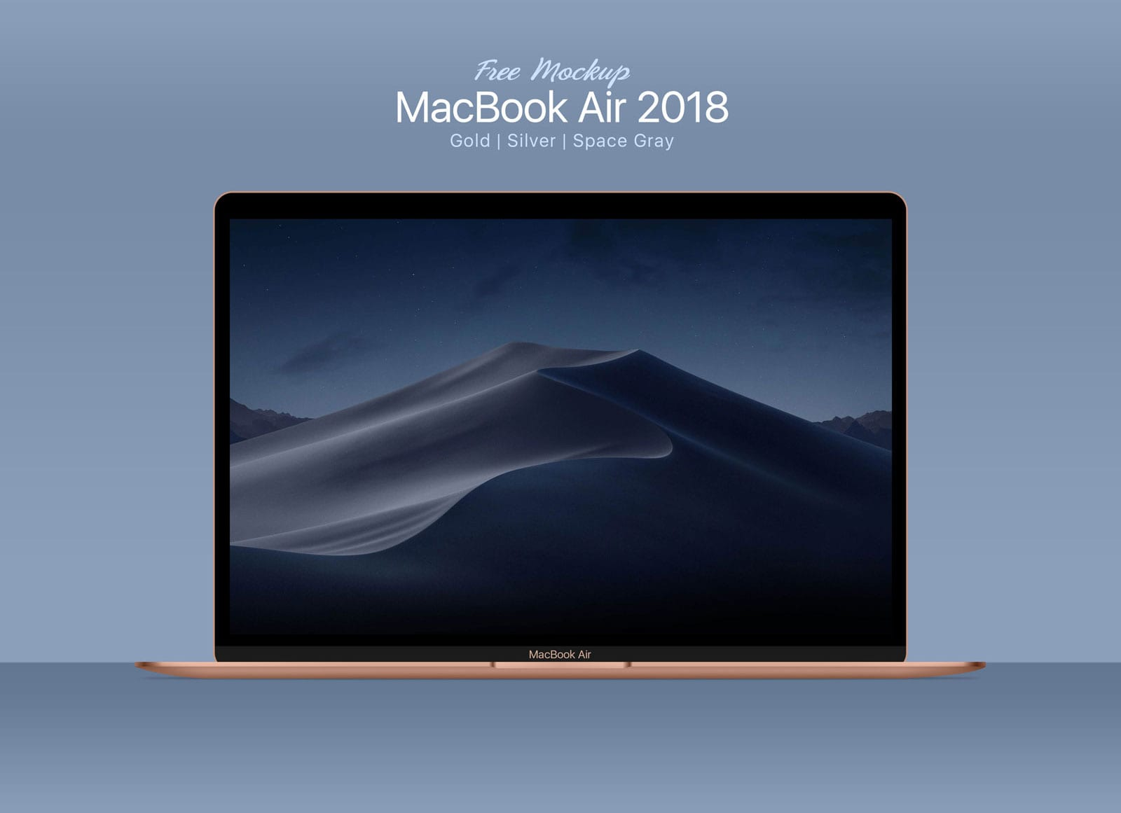MacBook Air 2018 Free PSD Mockup